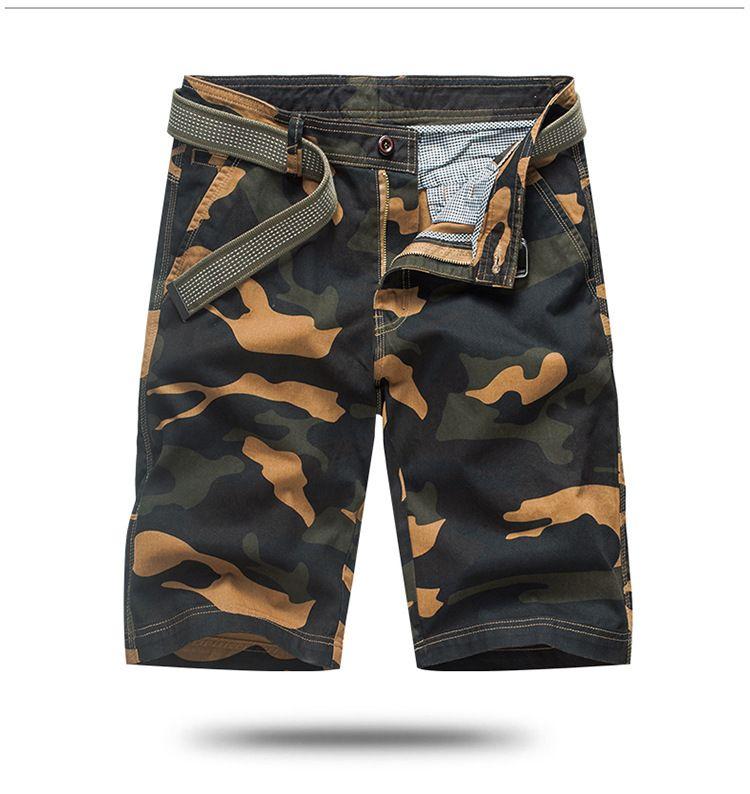 Camouflage Summer Mens Shorts Couleur Noir Taille Moyen Casual Sport Planche à roulettes Shorts droites d'été Hommes Shorts Designer avec fermeture éclair