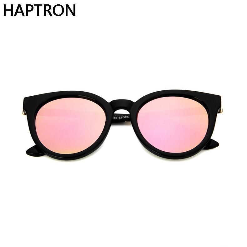 HAPTRON Pink lens Sunglasses Women Brand CatEye Sun Glasses Lady Mirror Sun Gasses Female Glasses
