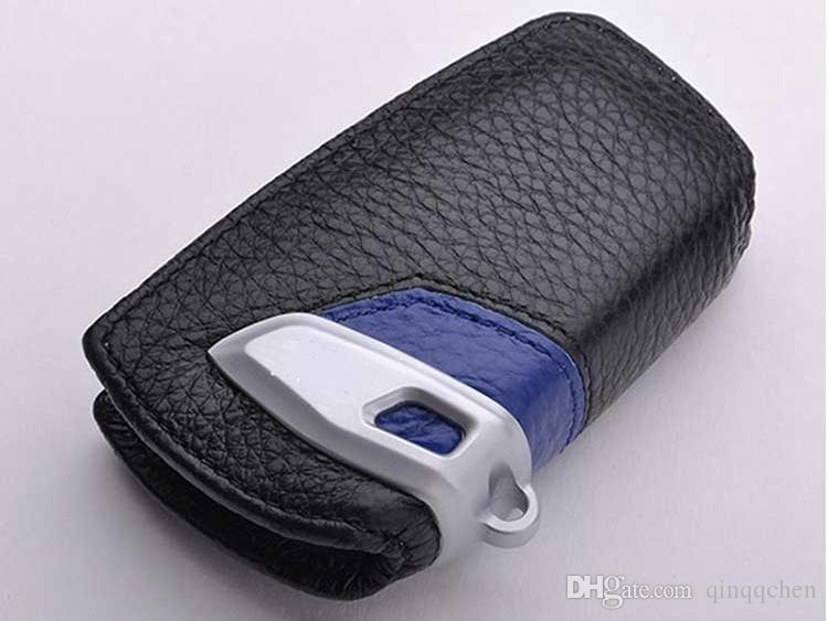 5Colors echtes Leder-Auto-Schlüssel-Abdeckung Key-Beutel-Kasten für BMW F10 X6 X1 X3 X4 X5 116i 118i 320i 316i 325i 330i E90 M1 M3 F20 F30 530i