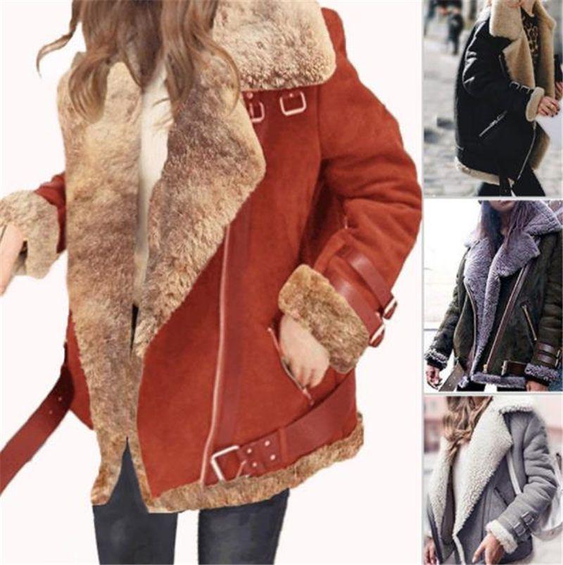 Kış Kadın Kürk Yeni Tasarımcı Coats Ceketler Çift yüzlü Kürk Sıcak Kalın Palto Kadın Oyuncak Coat