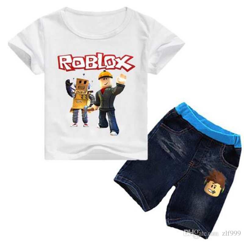 2020 Soft Cute Roblox Game T Shirt Tops Denim Shorts Fashion New