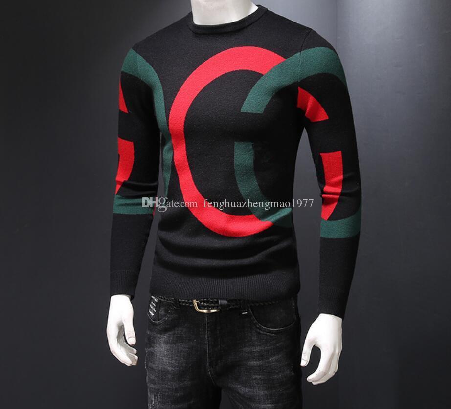 최신 국제 하이 엔드 남자의 스웨터 아름다운 부드럽고 따뜻한 편지 재킷 셔츠 패션 스포츠웨어 스웨터 코트 대형 M-4XL