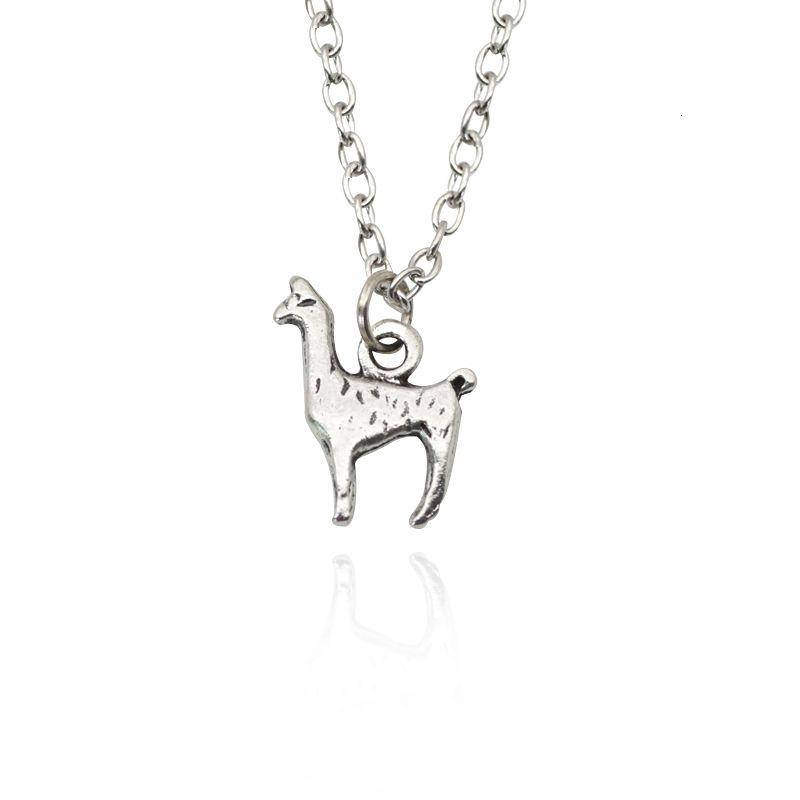Mode Alpaga Charm Pendentif Colliers Cartoon Mini animal Collier ras du cou pour femmes hommes Dropshipping