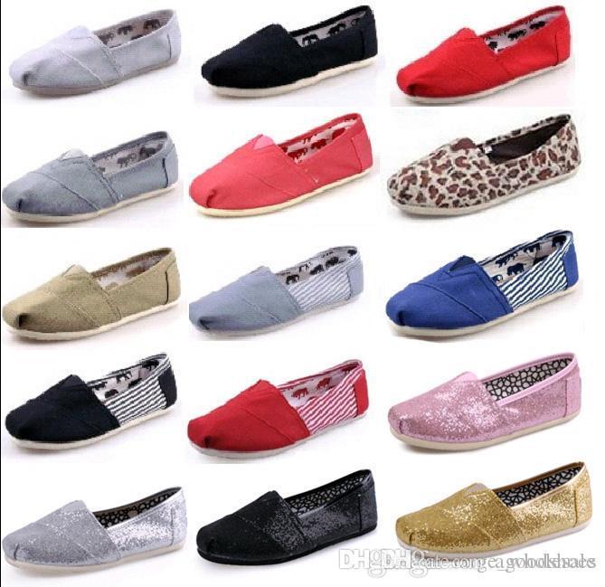 Prix le plus bas! chaussures en toile solide de loisirs dames, vente chaud unisexe hommes de toile classique Chaussures Femmes ordinaires espadrille Donc