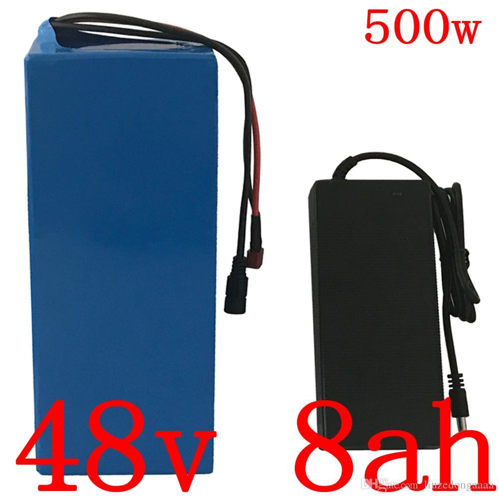 Duty-Free-48V 500W 48V 8AH 48V 8AH Lithium-Batterie Elektro-Fahrrad-Batterie mit BMS und 54.6V 2A 15A Ladegerät