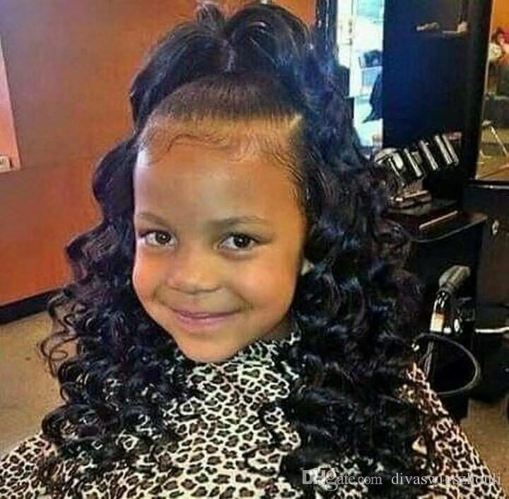 Wondrous Little Girl Kids Drawstring Ponytail Deep Curly Wave Human Hair Schematic Wiring Diagrams Phreekkolirunnerswayorg