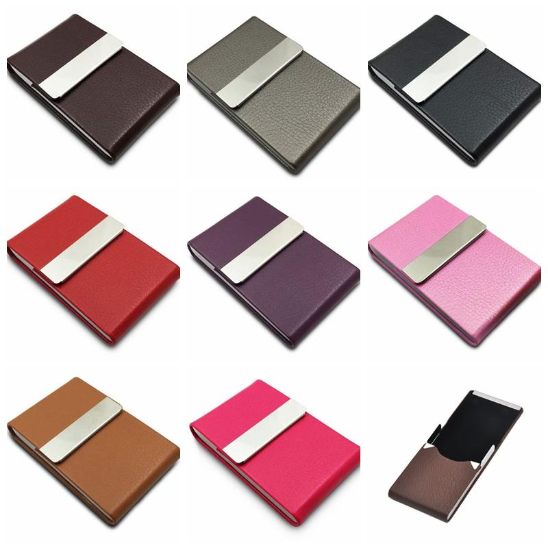 Colorful Style Mini Metal PU Cigarette Cases Shell Skin Casing Storage Box Exclusive Design Portable High Quality Hot Cake