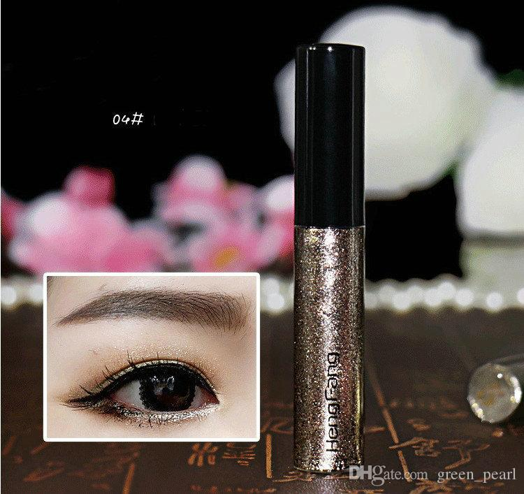 8 Colors/lot Colorful Eye Liner Shadow Sticker Eyeshadow & Eyeliner Pen Shimmer Glitter Shining Cosmetics Makeup Colors Eyeliner