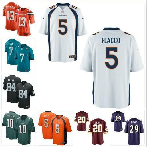 new product 8909f 1b233 Compre Nick Foles Joe Flacco Jersey Eagles Raiders Odell Beckham Jr Antonio  Brown DeSean Jackson Landon Collins Camisetas De Fútbol Americano Al Aire  ...