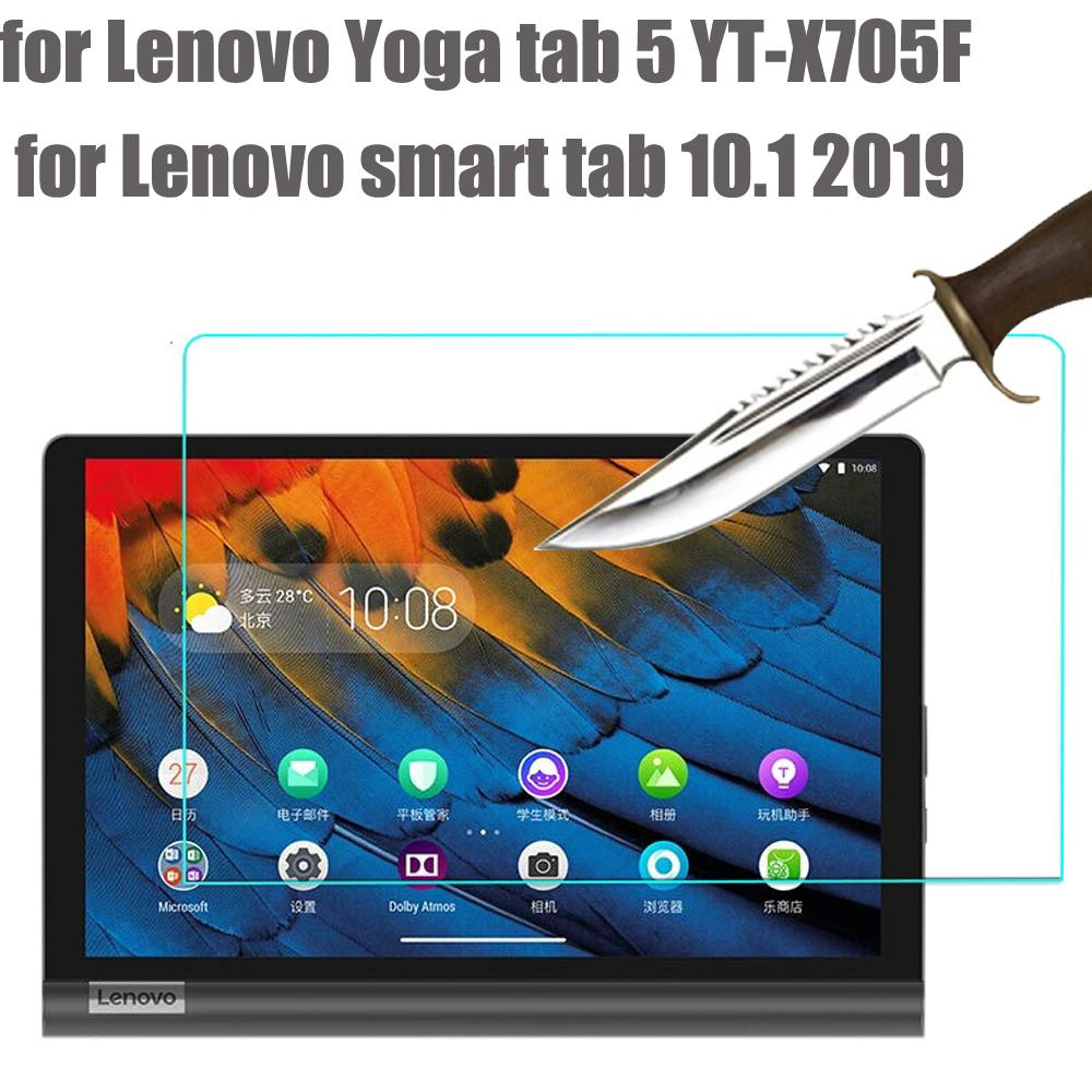 Lenovo Yoga sekmesi Lenovo akıllı sekme YT-X705f Tablet protec için 5 2019 10.1 için yığın Tablet Ekran Koruyucu temperli cam ekran koruyucusu ...