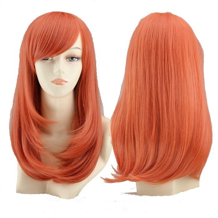 24 pouces vente chaude haute température soie mode nouvelle mode longue perruque de cheveux chimiques bouclés ensemble