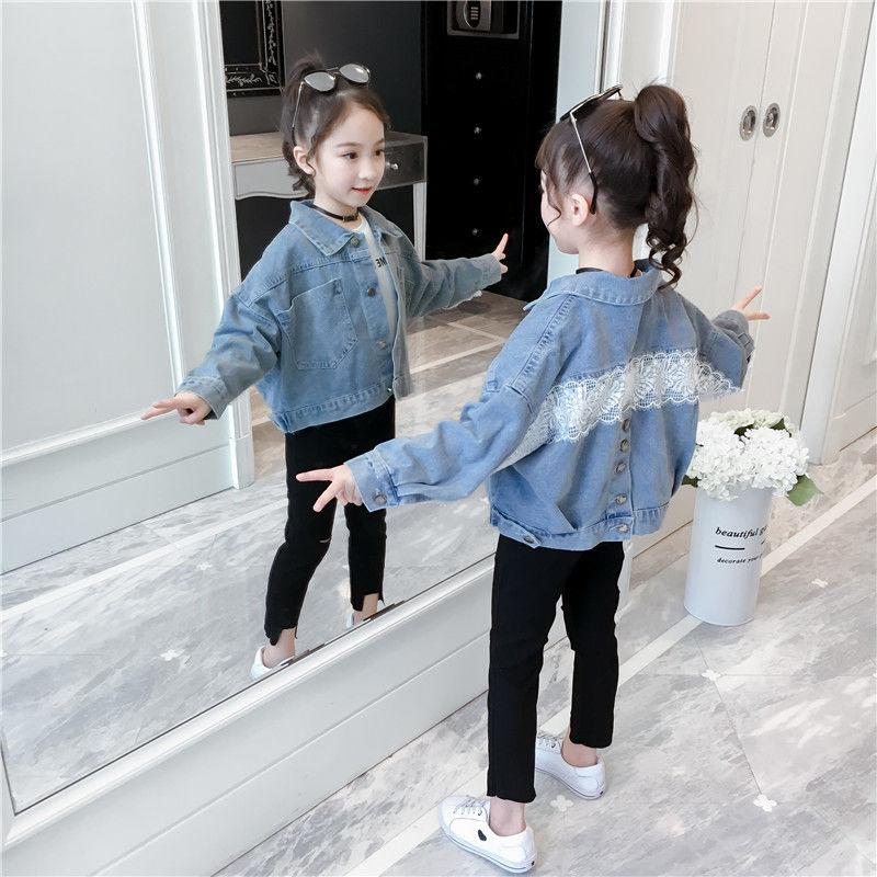 2020 chaqueta vaquera para los bebés niña Jean chaquetas de la capa Outwear otoño caliente de manga larga Moda Casual Abrigos Ropa