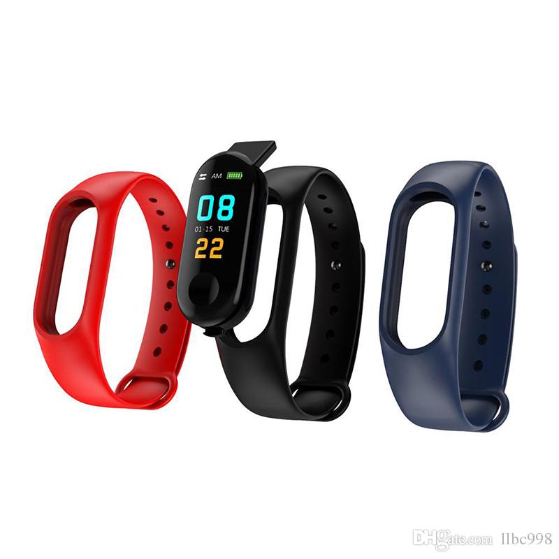 M3 smart bracelet strap replacement heart rate monitor Bluetooth smart health fitness smart bracelet strap for Android iOS activity tracker