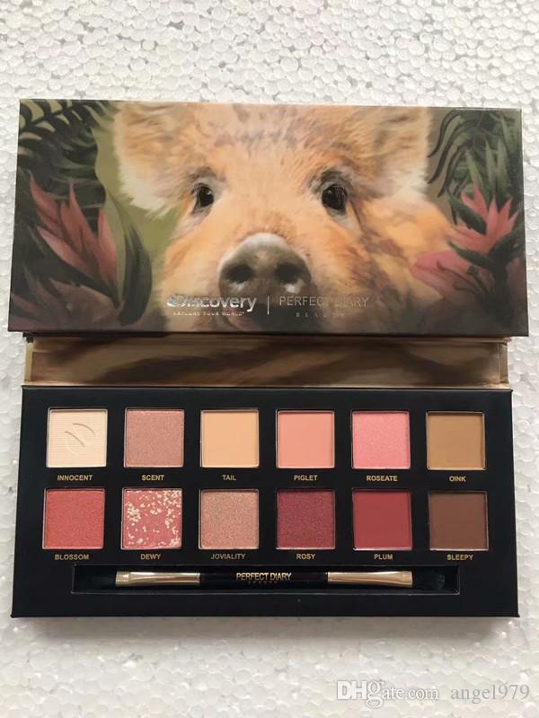 2019 più recente palette di trucco Discovery Diary Beauty Explorer 12 colori animale ombretto luccichio opaco tavolozza dell'ombretto cosmetici 4 stili pal