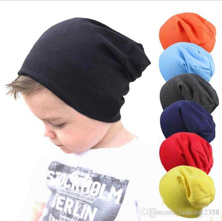 Neue Baby Street Dance Hip Hop Hut Frühling Herbst Baby Hut für Jungen Mädchen Strickmütze Winter Warme Einfarbig Kinder Hut