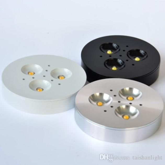 12 V DC / AC85-240 V 3W LED pod szafką Light Puck Light Ciepłe białe, naturalne, białe, fajne białe do oświetlenia kuchennego