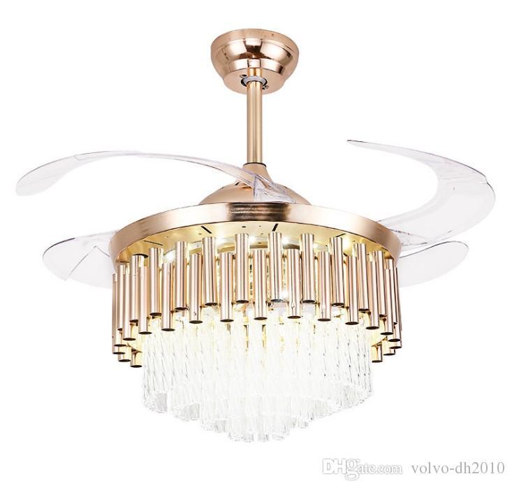 Lampada da ventilatore europea con telecomando Led camera da letto camera da letto sala da pranzo soffitto lampada da ventilatore per uso domestico fan invisibile grande lampada a soffitto LLFA