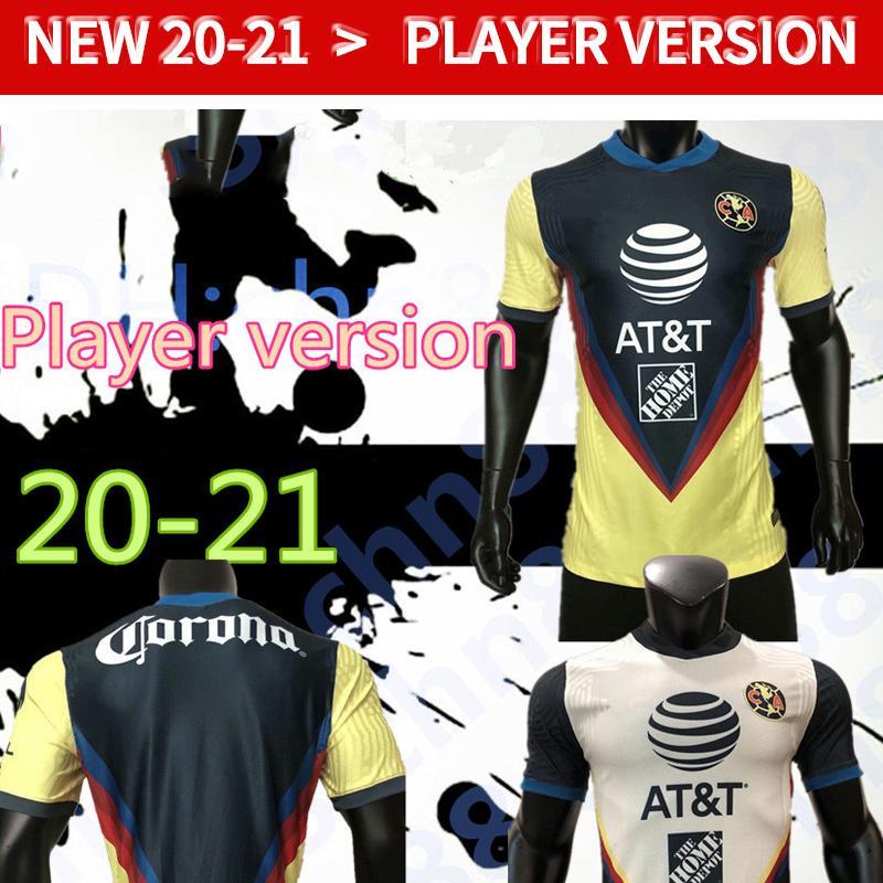 Spielerversion G. Dos Santos 20 21 Home Amerika Gelb Jersey Fussball R.Sambueza P.Aguilar 2020 2021 Away Mexico Club Football Hemd Frauen