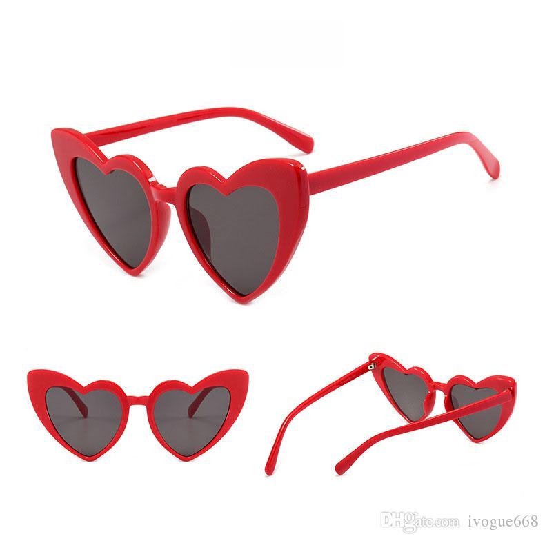 Brand Summer Woman Driving Sunglasses Good Quality Design brand Sunglasses Love Heart Frame Sun glasses beach sun glasses UV protection
