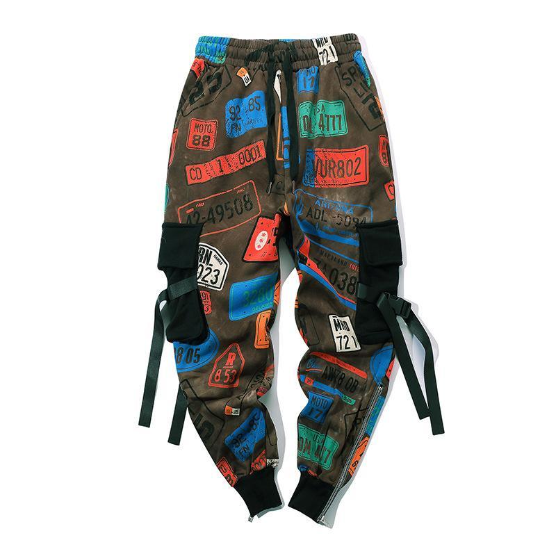 Tasarımcı erkek gevşek pantolon Gelgit marka erkek hip hop sloganı baskılı harfler rahat pantolon