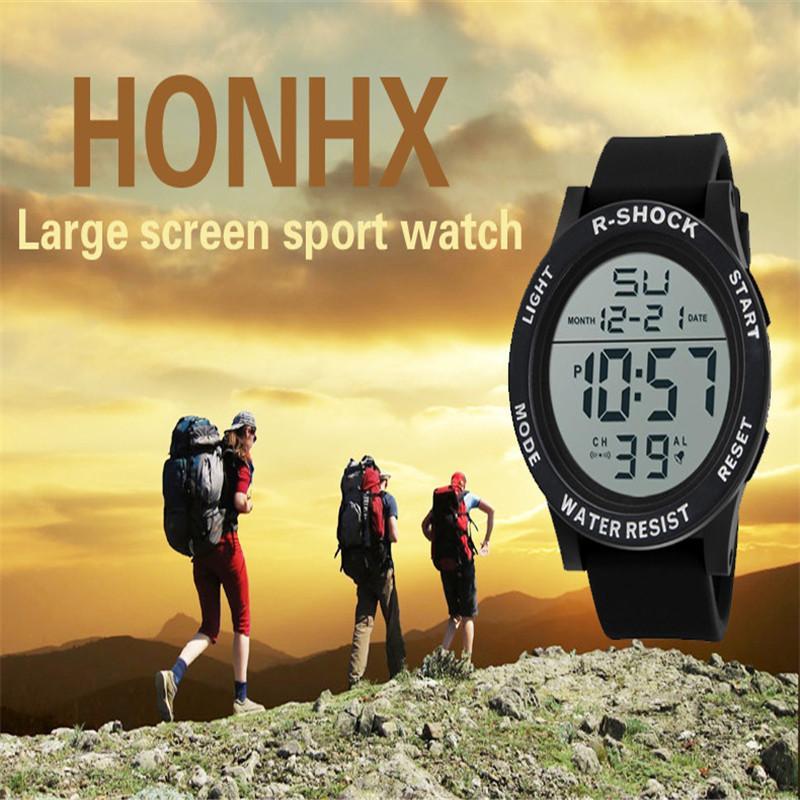 Fashion Waterproof Men's Boy Watch Lcd Digital Stopwatch Date Silicone Rubber Strap Military Army Sport Wrist Watch Relogio