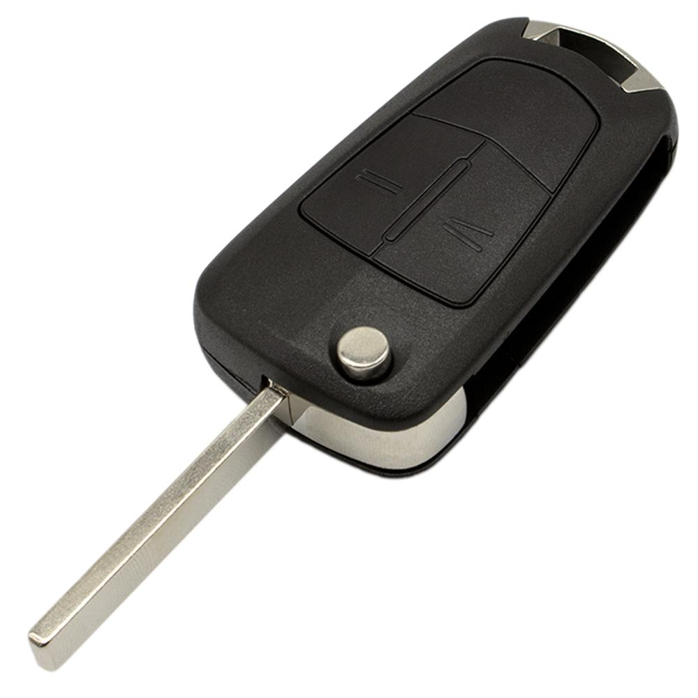 2-Button Car Flip Blank Key Fob Repair Kit For Opel Vectra Astra Tigra Battery