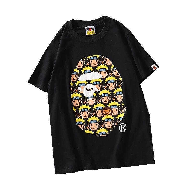 mens designer t shirts t shirt clothes of white clothing white casual cartoon personality printing T-shirt summer round neck short sleeve