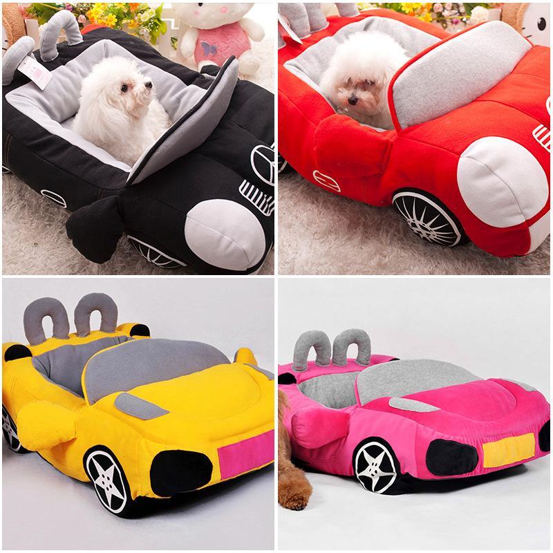 بارد الكلب الحيوانات الأليفة سرير الأزياء سيارة الشكل القط عش لينة جرو البيت وسادة دافئة لتيدي تشيواوا بيوت الكلاب هريرة مبطن أريكة SH190926