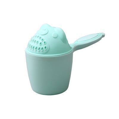 아기 만화 곰 입욕 컵 신생아 아이 샤워 샴푸 컵 뱃 바닥에 괸 물을 퍼내는 베이비 샤워 물 스푼 목욕 세척 컵 2 컬러 EEA1406-5 들어