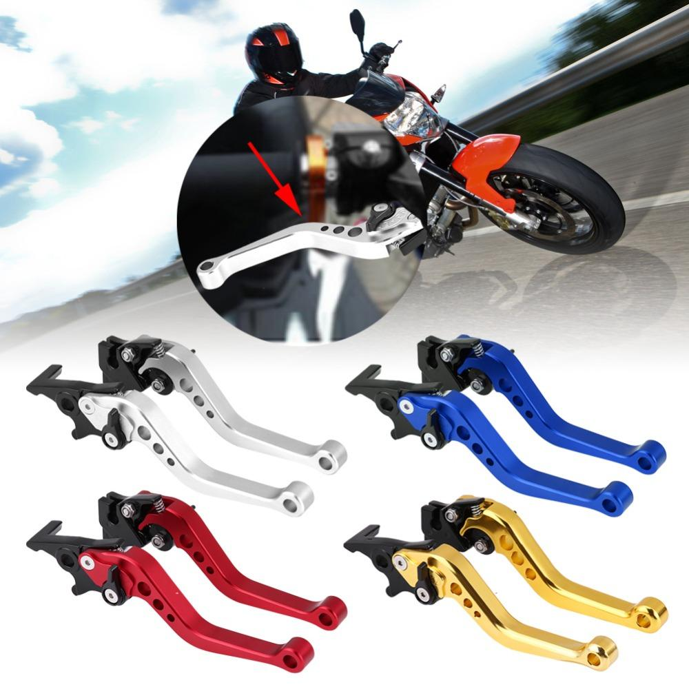"1 Pair Motorcycle Clutch Drum Brake Lever Handle Universal Fit for Yamaha Honda Suzuki 22mm 7/8"" CNC Aluminum motorcycle levers"