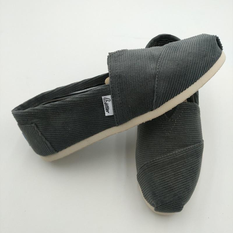 Günlük İlkbahar ve sonbahar artı kadife kanvas ayakkabılar örme kadife düz dipli pedal tembel ayakkabı sığ ağız hafif gündelik kadınlar