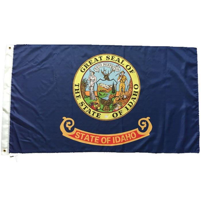 Bandera del estado estadounidense de Idaho 3x5 pies Poliéster buena calidad de impresión Banderas Nueva Estado de EE.UU. Cualquier Banderas personalizadas Banners