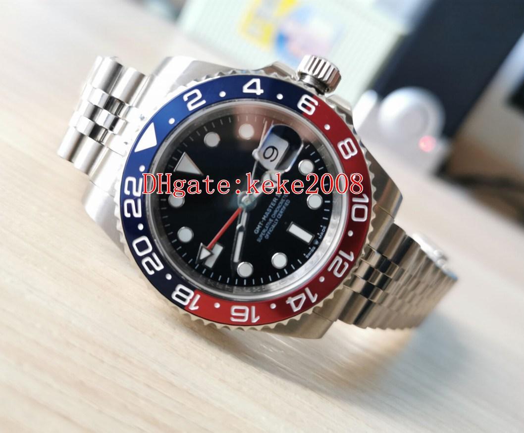 Topselling de fábrica superior de pulsera KS II 126710BLRO-0001 126710 inoxidable de 40 mm ETA 2836 relojes de los hombres del reloj de movimiento mecánico automático GMT