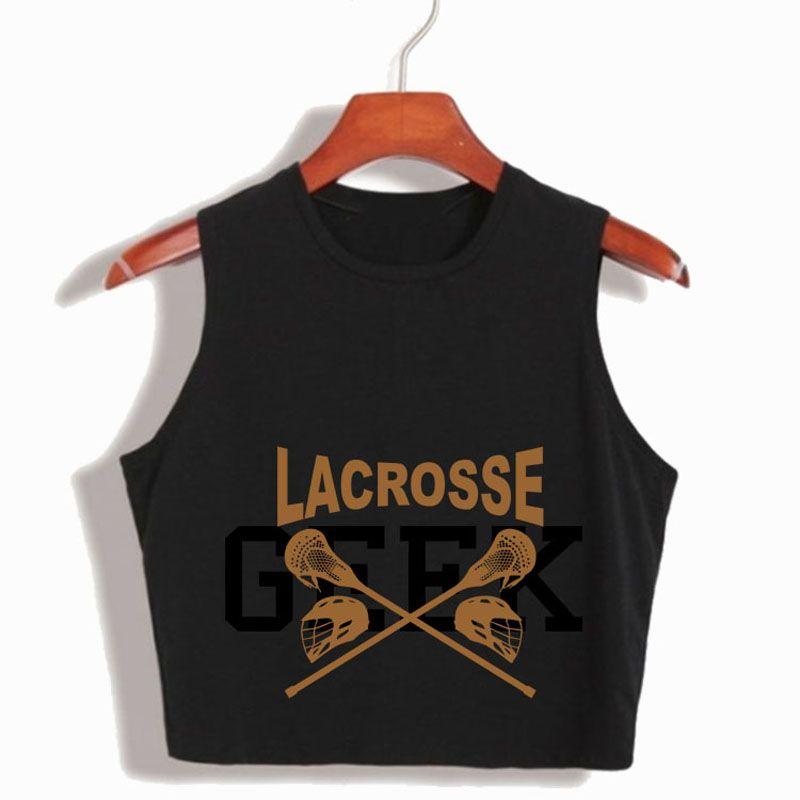 T-shirt Teen Wolf Stiles Stilinski 24 Crop Top BEACON HILLS LACROSSE Crop Tops 2017 Summer Fashion Casuals Canotta di cotone