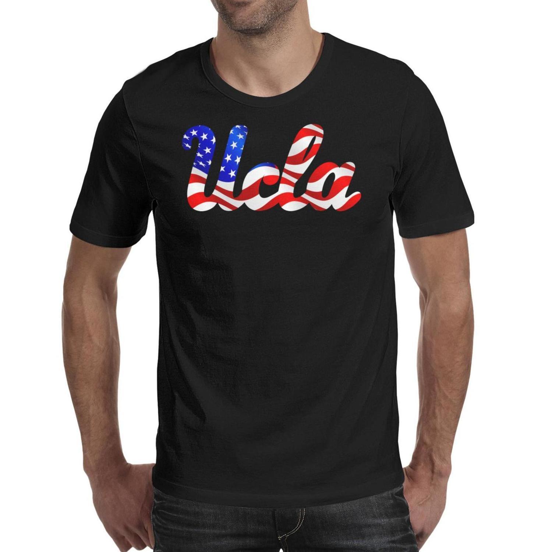 Мужская печать Калифорния Лос-Анджелес Брюинз Баскетбол США флаг черная футболка Смешные Slim fit Champion Shirts Классический розовый рак молочной железы