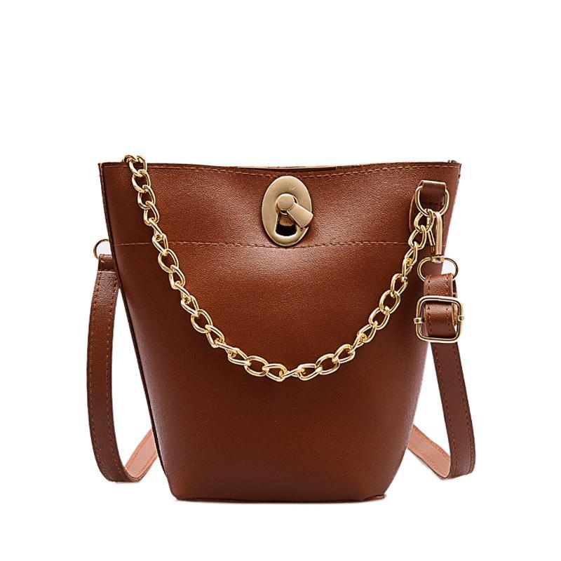 Crossbody de RoyaDong Mode féminine luxe Pu cuir Bucket Messenger Bag Ladies Sacs à bandoulière pour les femmes 2020 nouveaux sacs à main