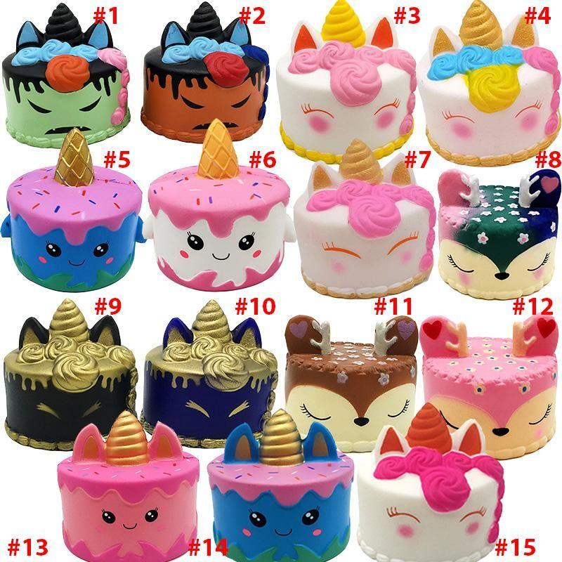 اسفنجي CutePink يونيكورن لعب 11 سنتيمتر الملونة الكرتون يونيكورن كعكة الذيل الكعك الاطفال متعة هدية اسفنجي بطيئة ارتفاع kawaii squishies