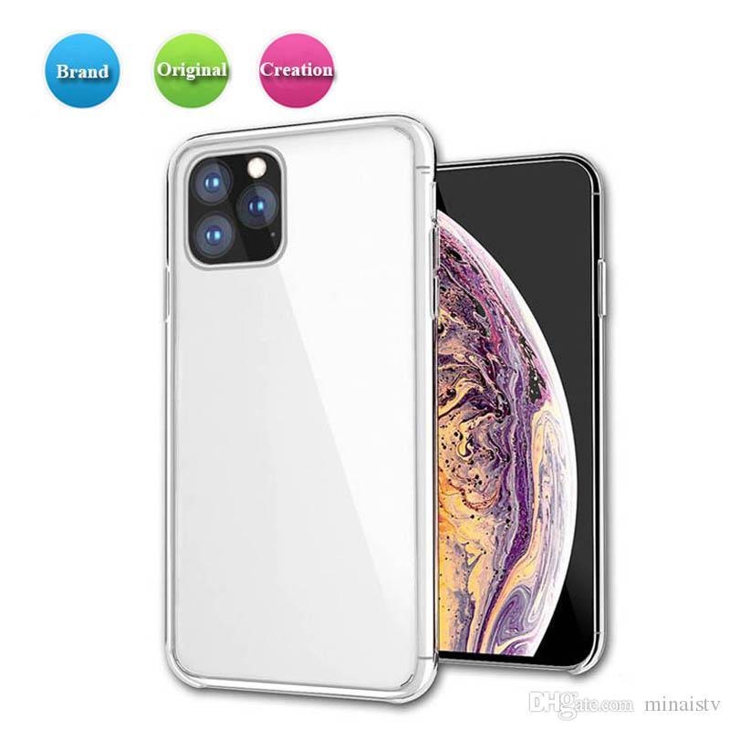 Custodia per iPhone 11 pro caso della copertura ultra sottile di caso max XS XS XR Max trasparente copertura del respingente della radura TPU per Samsung note9
