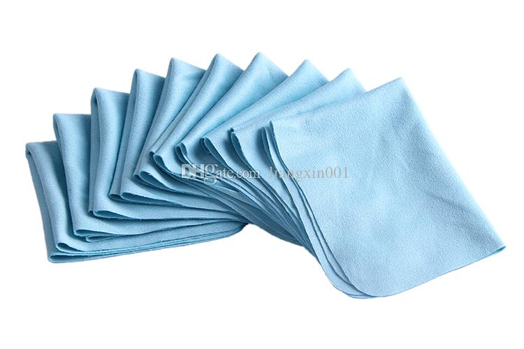 10pcs/lots Eyeglasses Chamois Glasses Cleaner Microfiber Glasses Camera Cleaning Cloth For Lens Phone Screen Cleaning Wipes Blue Color