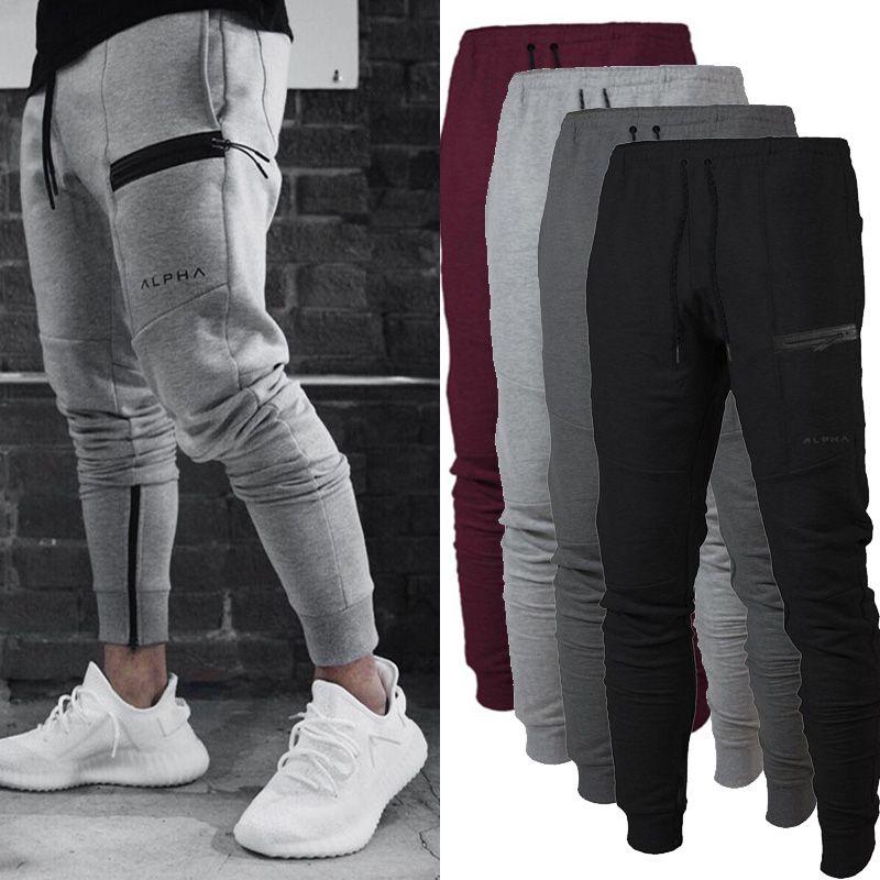 Spor Pantolon Spor Pantolon Streç Pamuk erkek Spor Koşu Pantolon Vücut Mühendisleri Jogger Açık Slacks Egzersiz Pantolon Ter Pantolon G ...