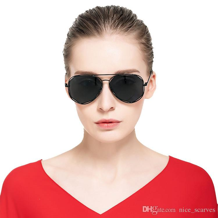 Модные Солнцезащитные Очки Бренд Дизайнер Женщины Металлический Каркас Полигон Линзы Пилот Солнцезащитные Очки Женщины Открытый Вождения Солнцезащитные Очки