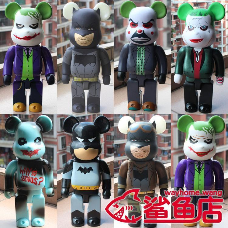 Nueva 28cm 400% donaciones figura de acción Bearbrick comodín Batman de Colección Modelo caliente Juguetes Cumpleaños muñeca Arrvial PVC envío