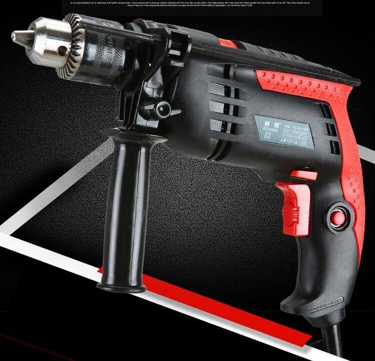 220V 1200W Speed ajustável 13mm CA Impact Drill Electric Hammer Electric Drill Power Woodworking Power Tool