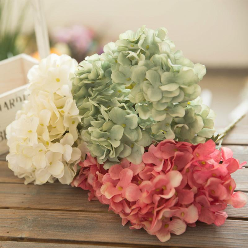 6 Braches Artificial Flower Hydrangea Peony Bridal Bouquet Silk Flower for Wedding Valentine's Day Party Home DIY Decoration