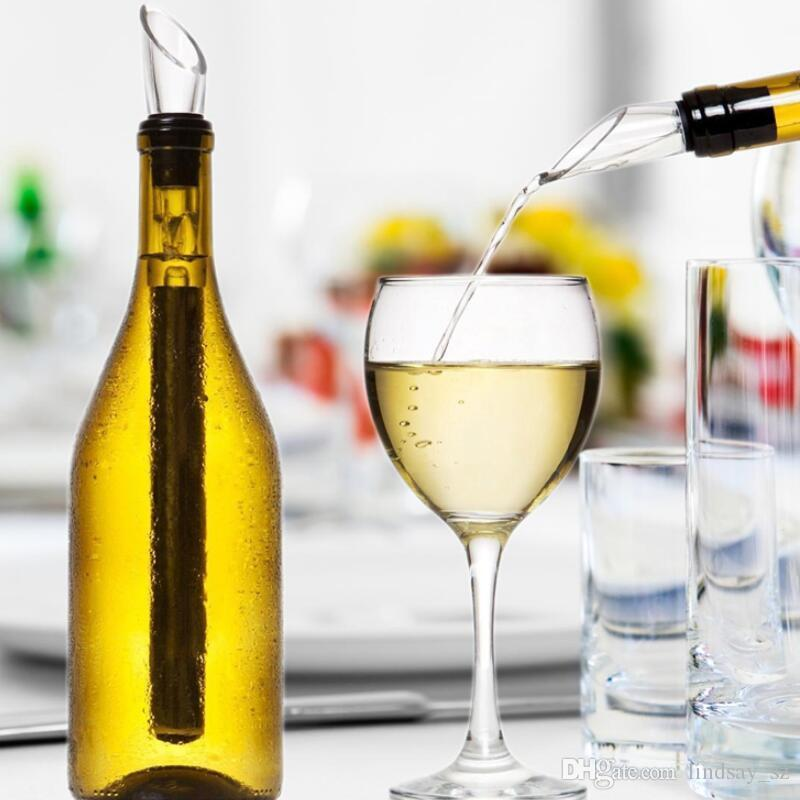 Weinkühlern Stick Edelstahl Flaschenkühler Chill-Wine Chill-kühlen Stock Rod mit Weinausgießer LX8789