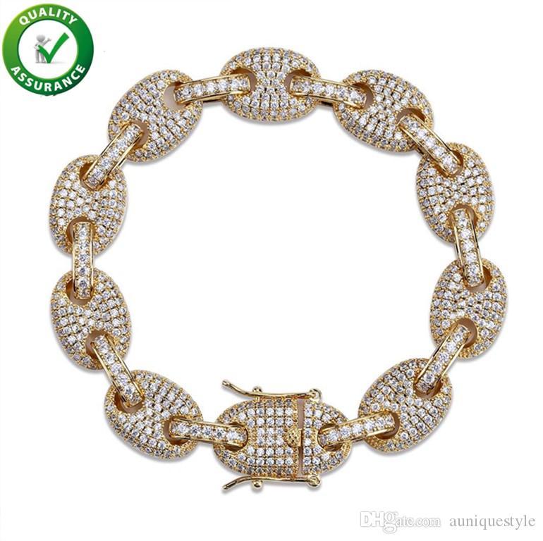 Luxury Designer Jewelry Mens Gold Bracelets Charm Bangles Hip Hop Iced Out Diamond Tennis Bracelet Pandora Style Bracelet Love Link Chain