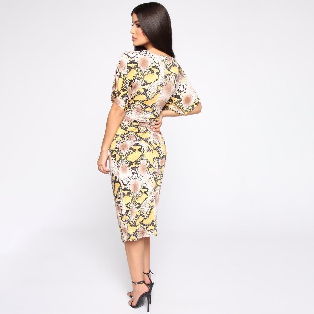 Vêtements féminins Sexy Fashion Style Casual Vêtements Femmes Designer Designer Robes Vol V ecoux Snake Snake Print