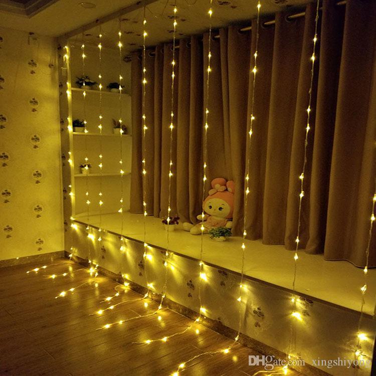 3mx3m 6mx3m 336LED 640 Wedding Party di Natale LED Sfondo vacanza che funziona luce della stringa della cascata dell'acqua Scorrimento cortina di LED impermeabile