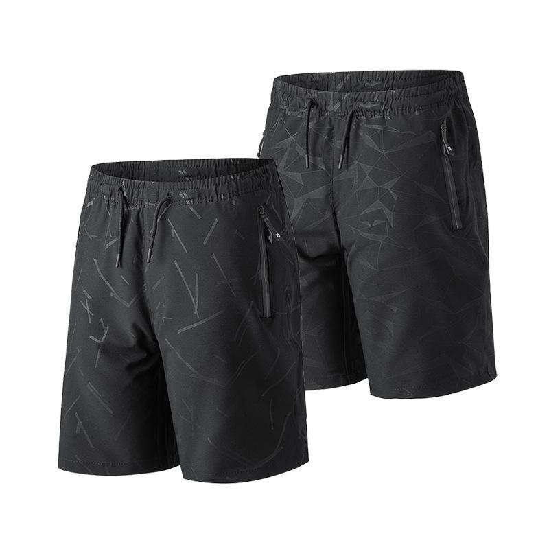 Mens Casual joelho Shorts Praia Shorts Sporting bodybuiding Trunks Slim Fit Gym Fitness Executando Vestuário Preto