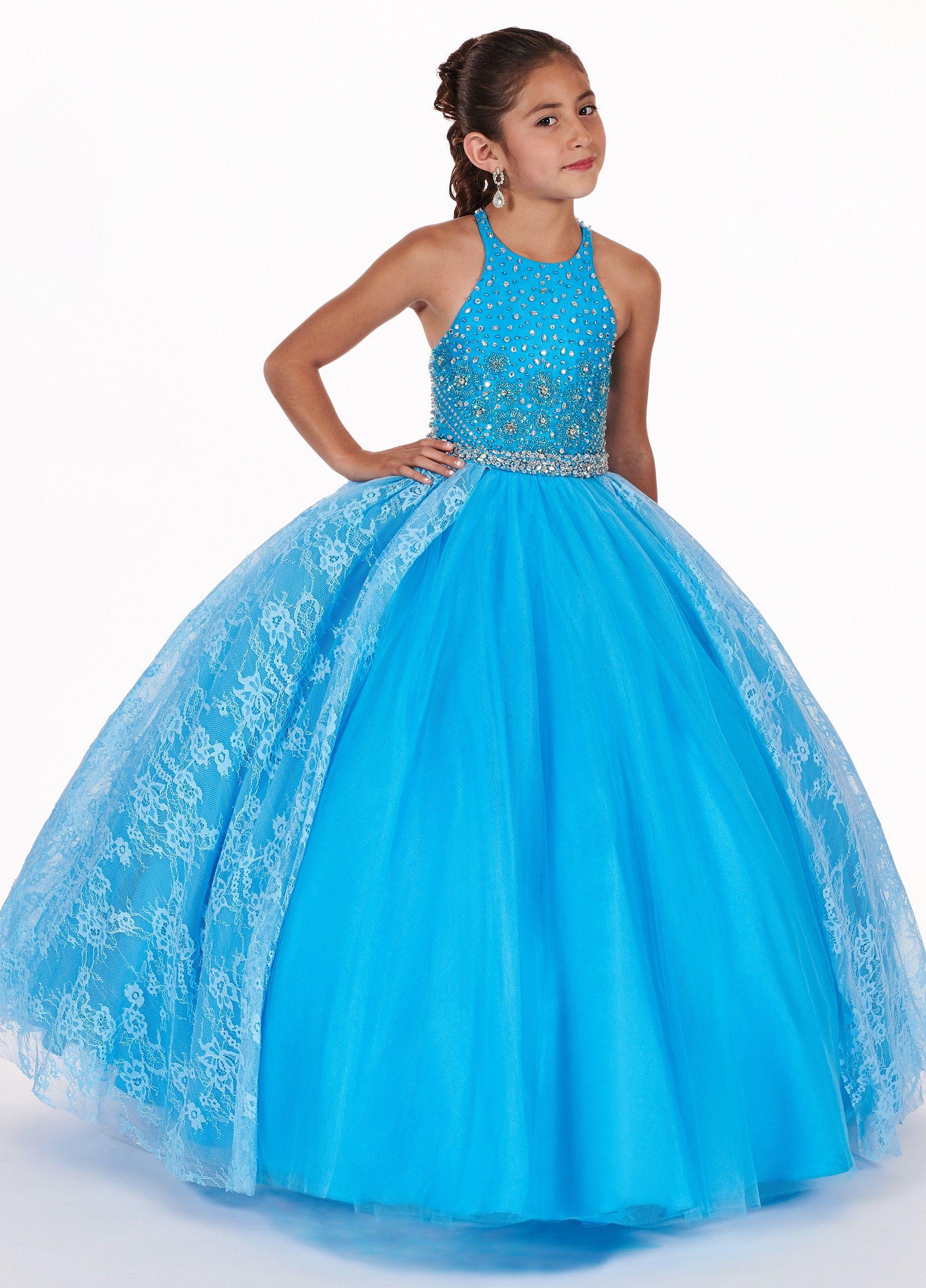 Compre Vestidos De Gala Elegantes De Encaje Vestidos Para Niñas Vestidos 2019 Barato Joya Larga Tulle Princesa Diseñador Crystal Girls Vestido Formal
